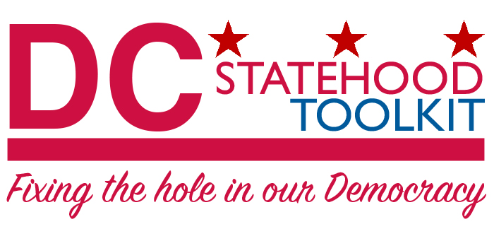 DC Statehood Toolkit graphic - This image is great for promoting our toolkit on your website. Right click to save the image.