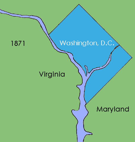 The District of Columbia. 1846 - Present
