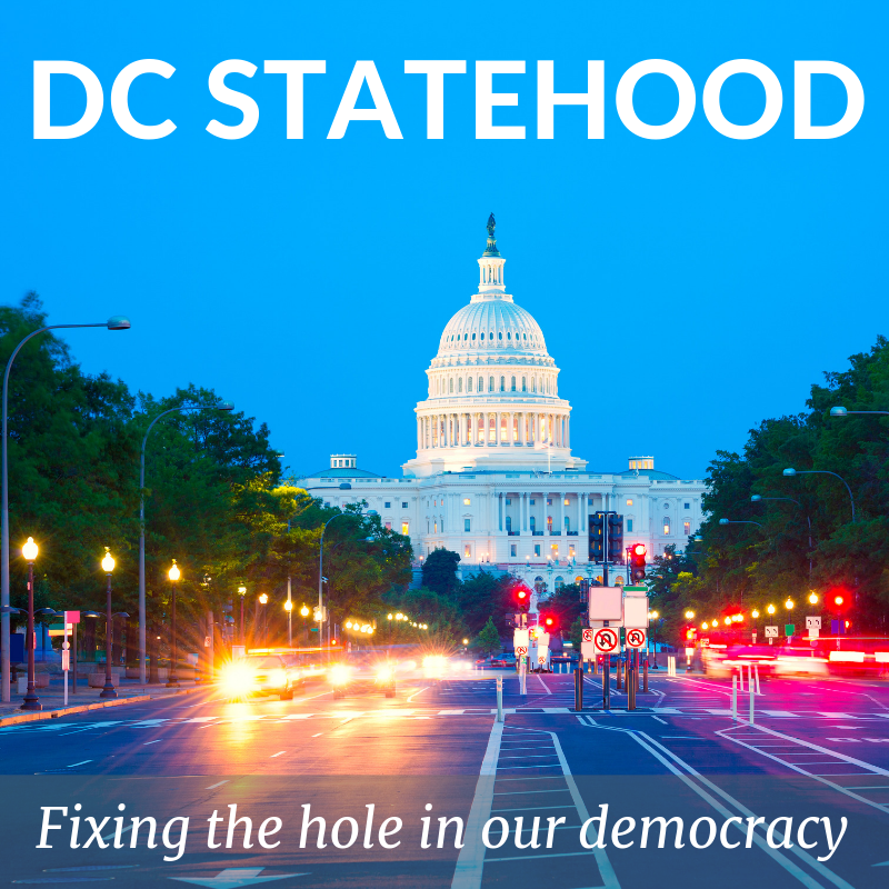 DC Statehood Photo for Instagram and facebook posts. - The square format is perfect of Instagram and Facebook.Right click to save the image.