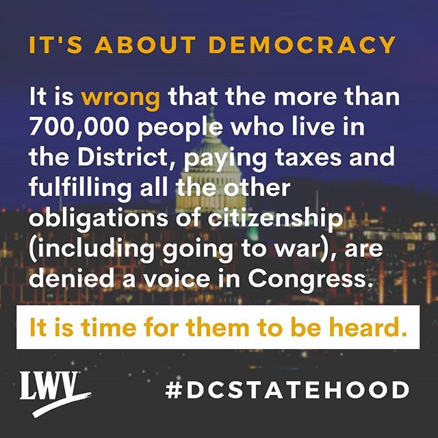 The House Oversight Committee Hearing on DC Statehood is today!! It's time for DC to be heard. It's time for #DCStatehood .