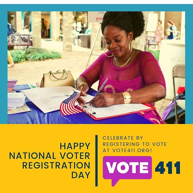 Happy National Voter Registration Day! Today is a great day to register to vote. And ask your family and friends if they are signed up too. You voice matters. Signing up is the first step in making certain your vote is counted. ⭐ In DC you can register online at vote4dc.com.  You can also check your registration to make certain your name and address are accurate. ⭐ Not in DC? Vote411.org has all the information you need to sign up in your state.