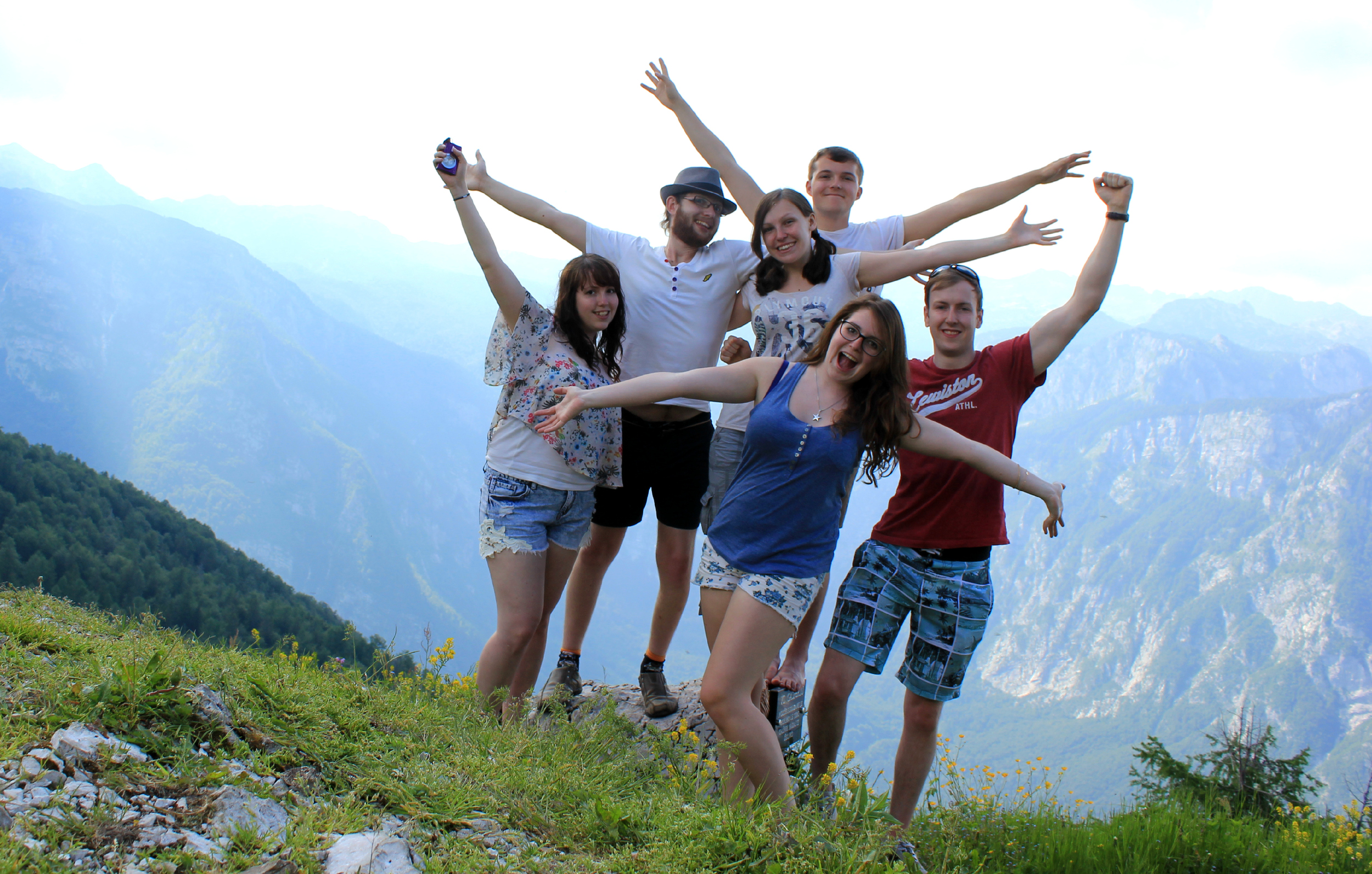 At the top of Vogel in Bohinj
