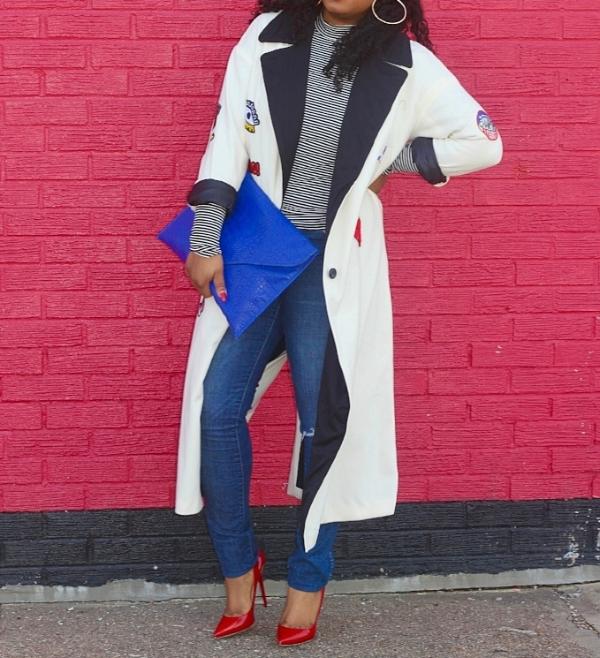 Patch Robe Coat