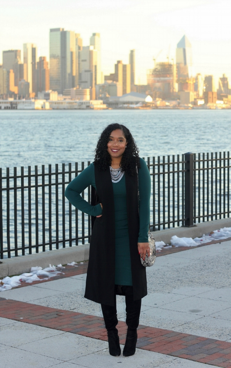 Bodycon Dress and Longline Vest