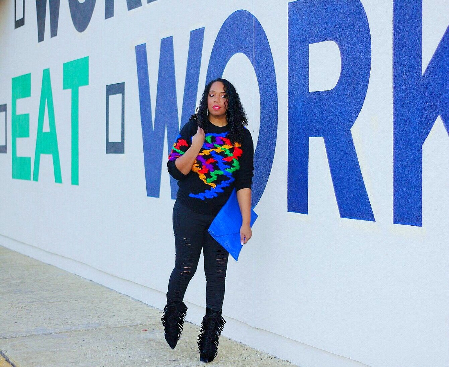 Style & Poise: Primary Color Sweater