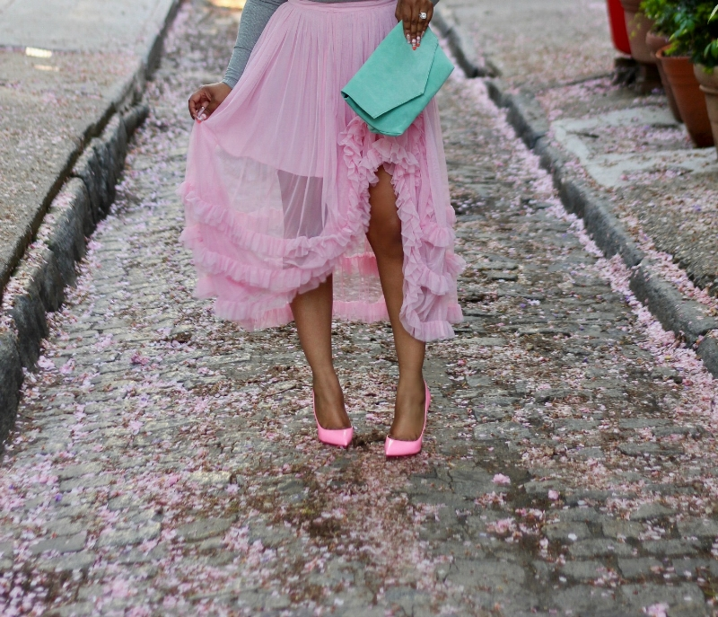 Pink Pigalle follies and Pink Ruffle skirt