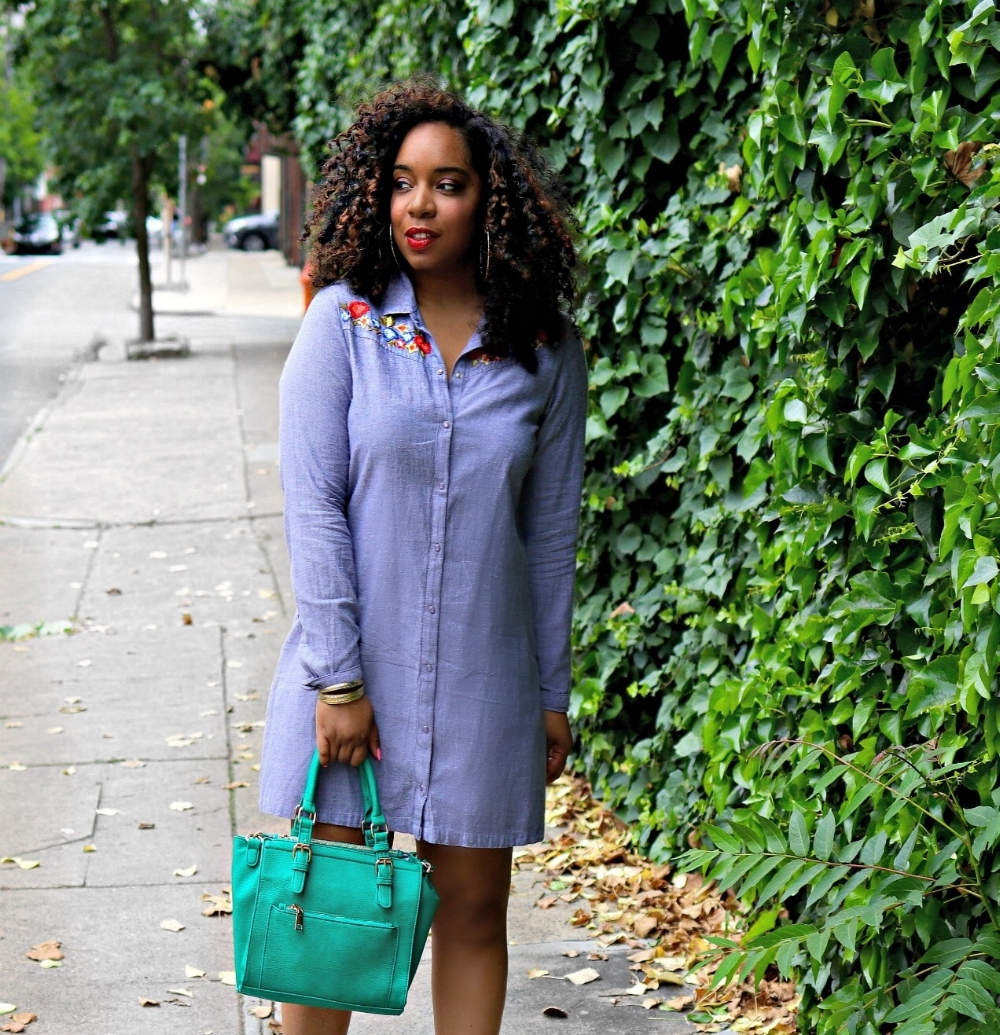 Style & Poise: Embroidered Dress