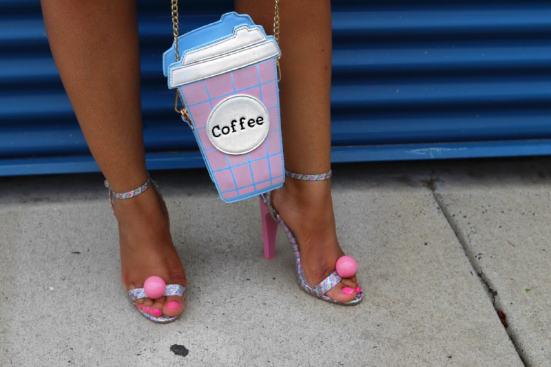 Coffee Purse and Gumball Heels