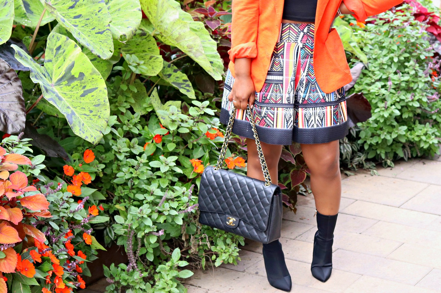 Tribal Skirt and Sock Boots