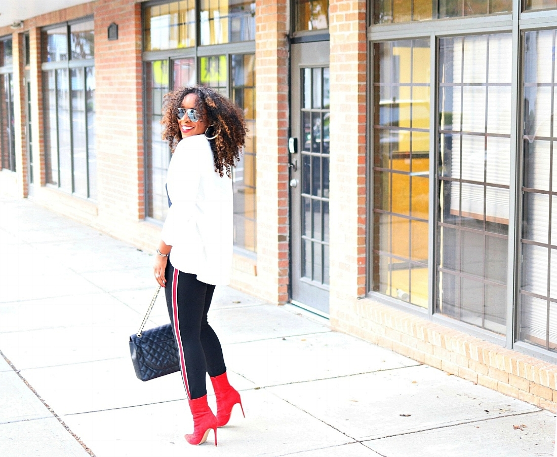 Red Boots, Tuxedo Skinnies
