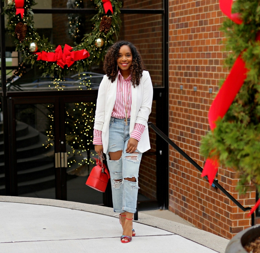 Style & Poise: Holiday Inspired candy Cane look