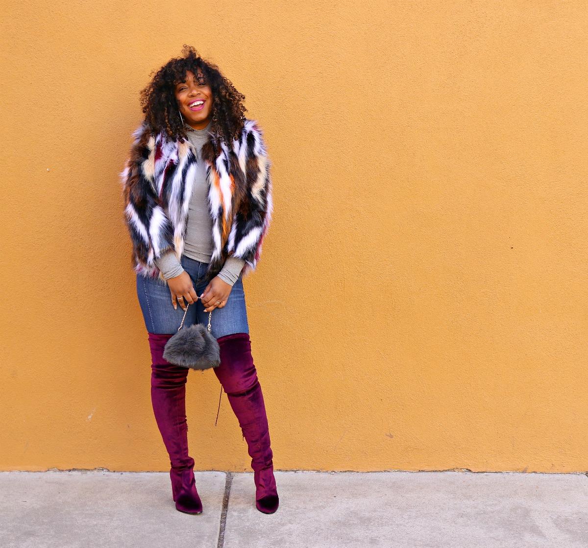 Multi Color faux Fur