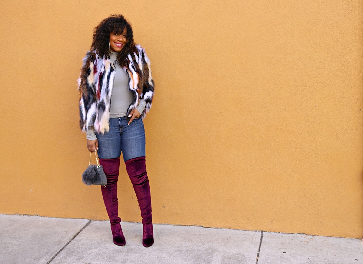 Multi Colored Faux Fur