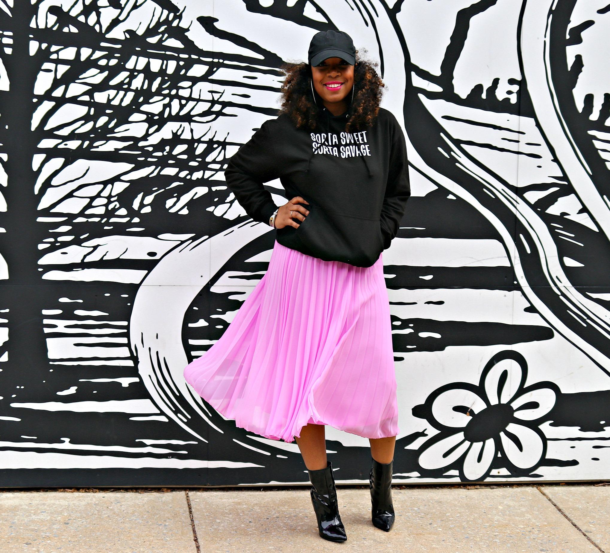 Sorta Sweet Sorta Savage Hoodie, Slogan sweatshirt, how to style a sweatshirt