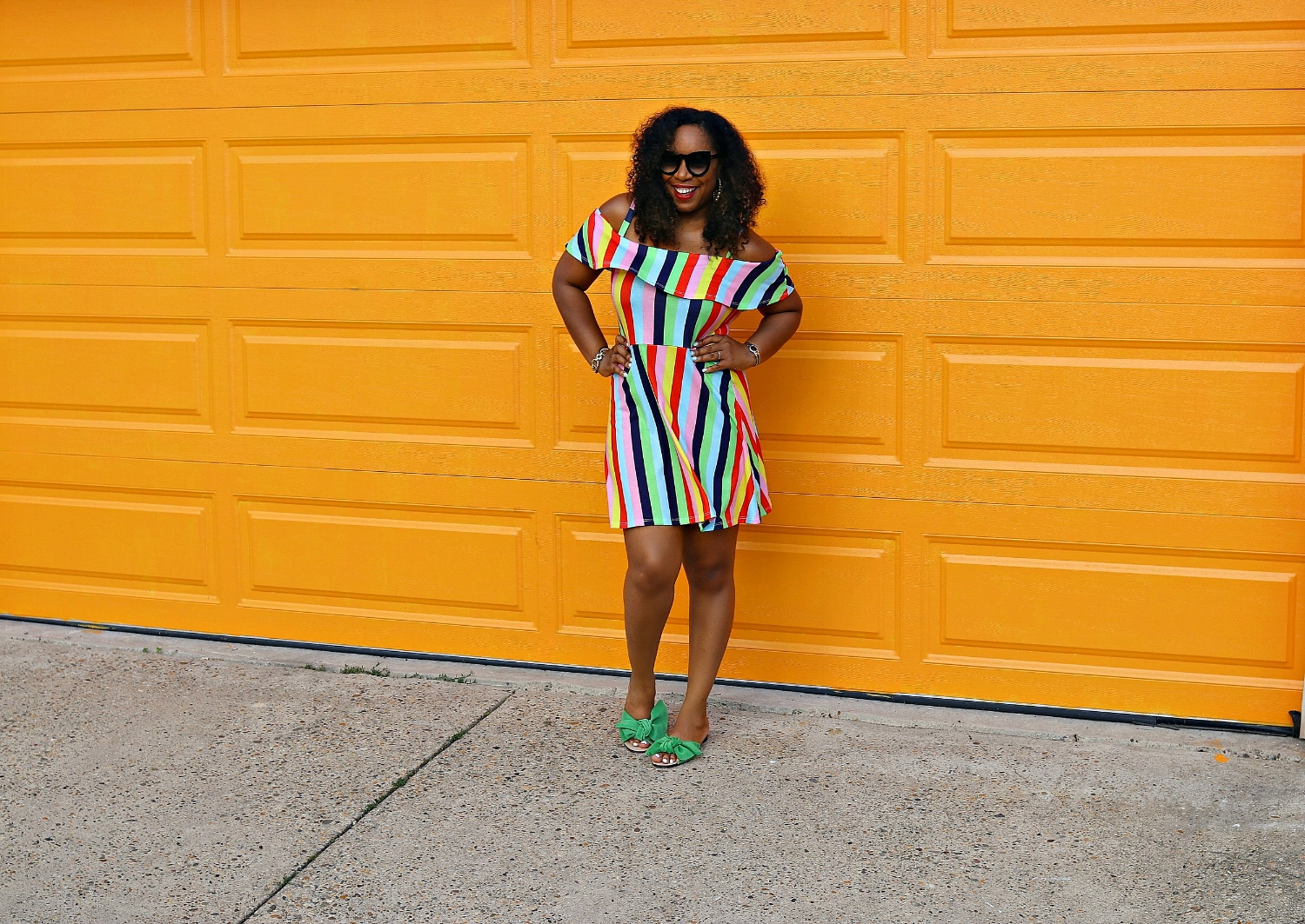 Stripe Colorful Dress, Summer Fashion, Girlie Style