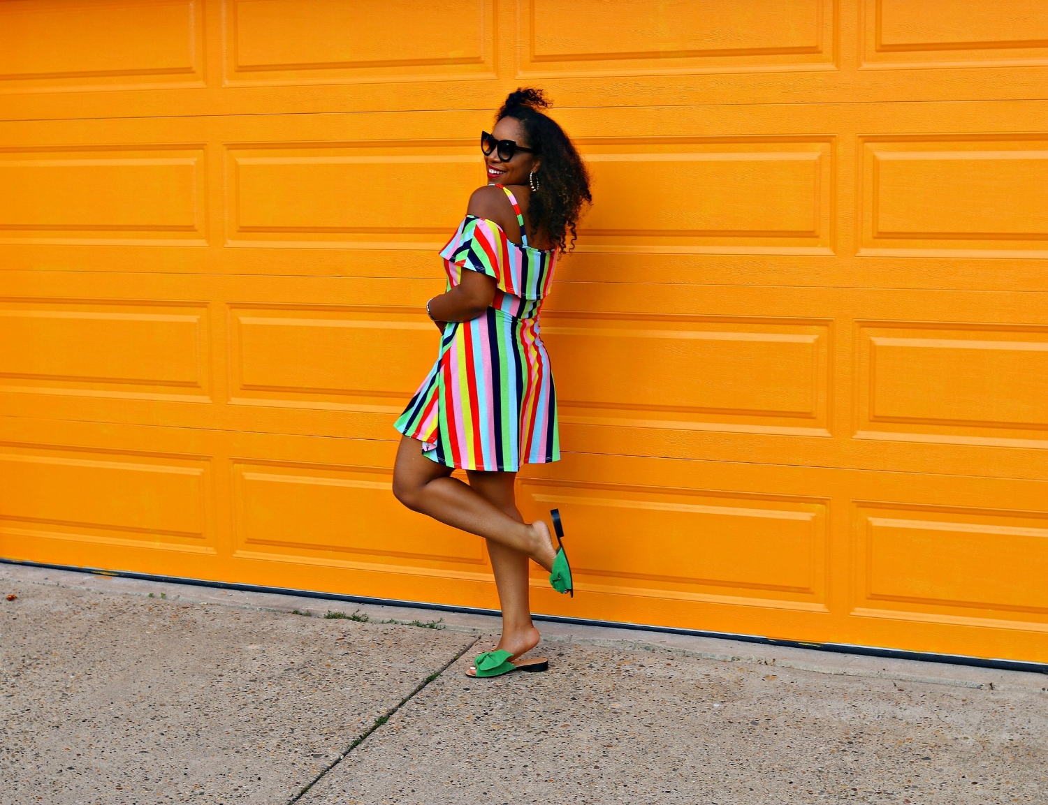 Summer Dress, Asos Dress, Zara slides, Vibrant Style