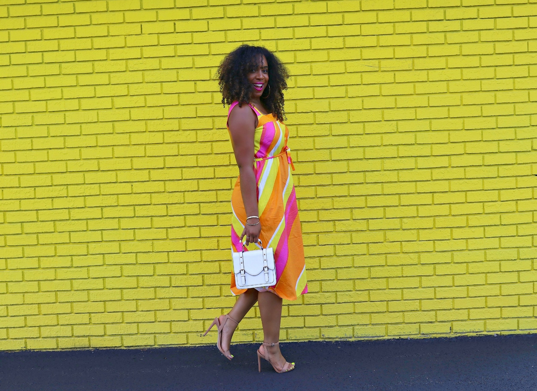 Colorful Midi Vintage Dress