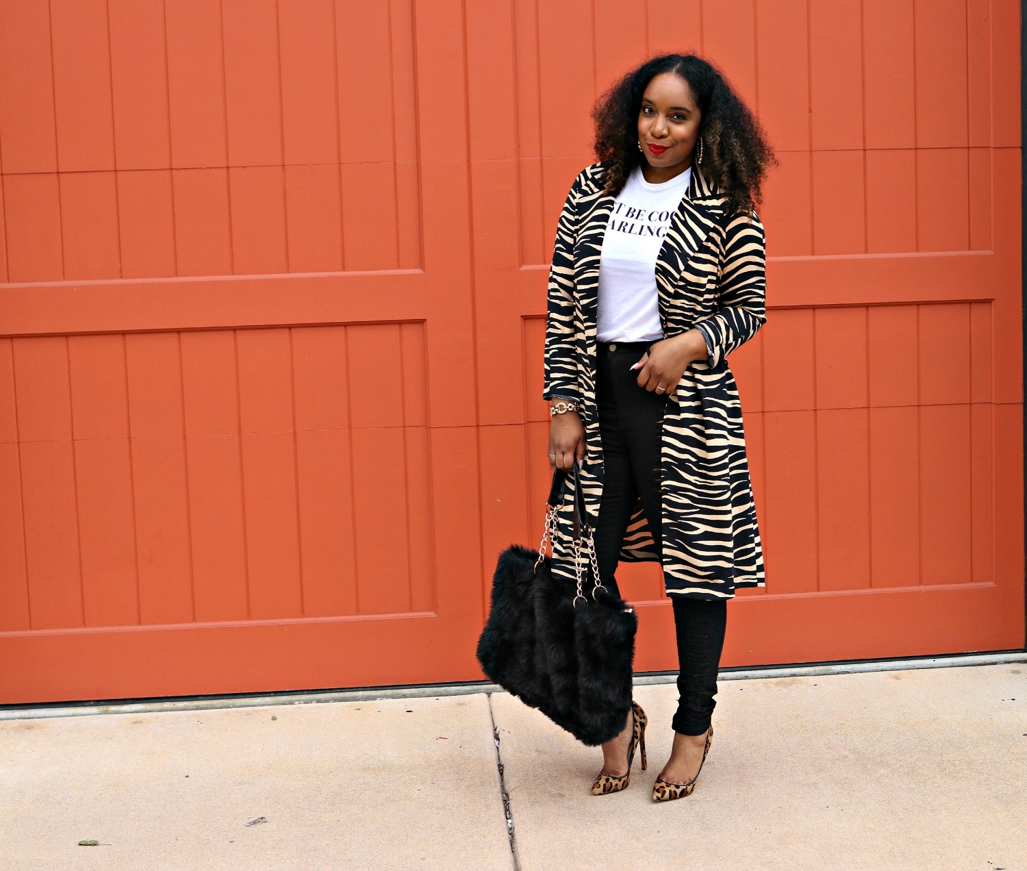 Leopard Pumps and a Animal Trench Coat
