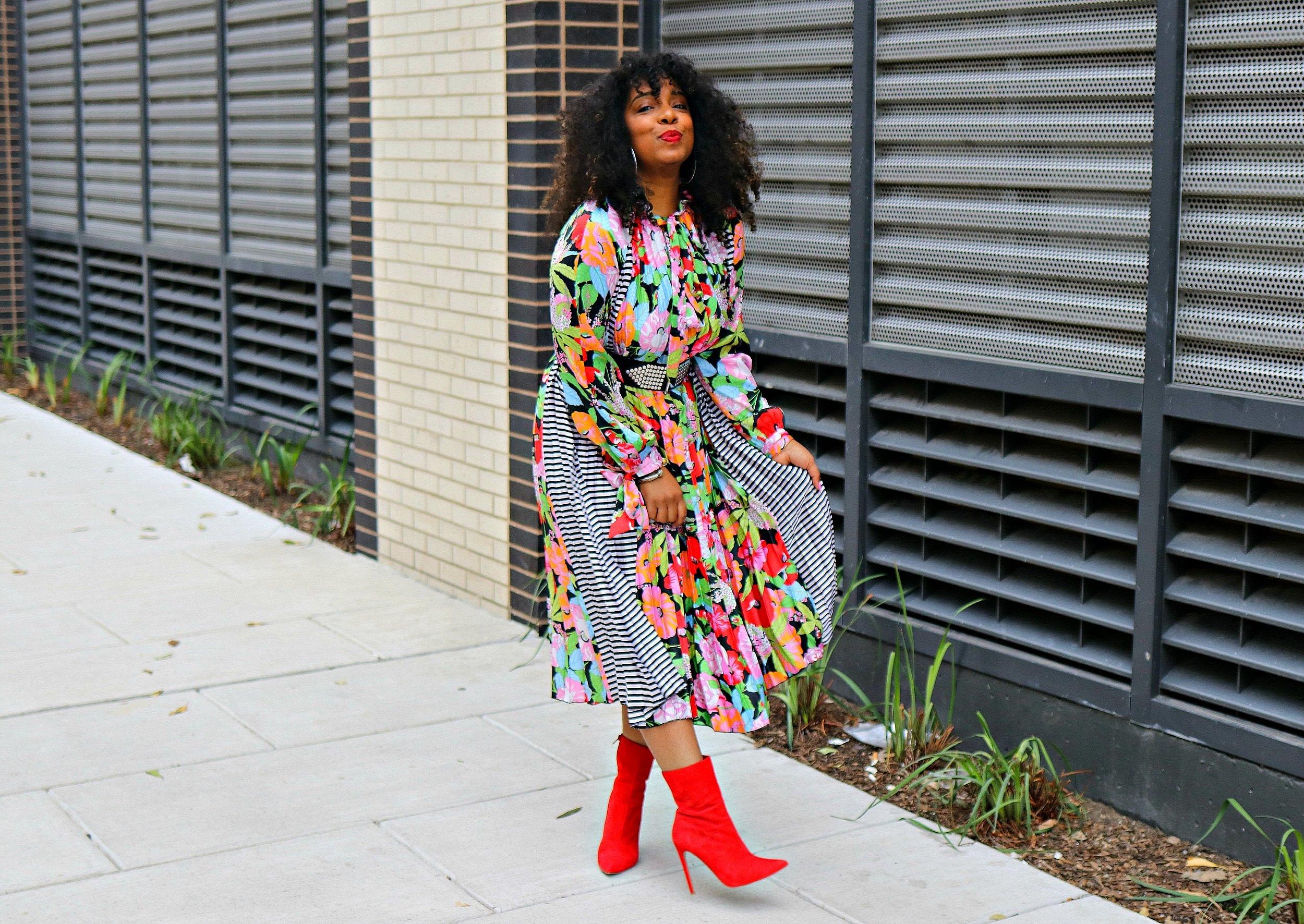 Floral midi dress, asos dress