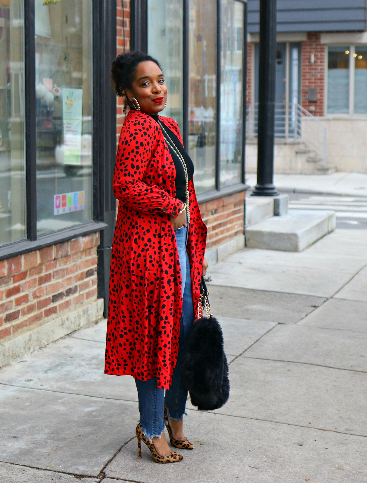 Valentine's day inspo, red dress, red duster