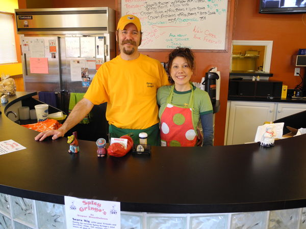 Michelle and Alan Huffman at Spicy Gringo's first home, Wellsburg, WV.