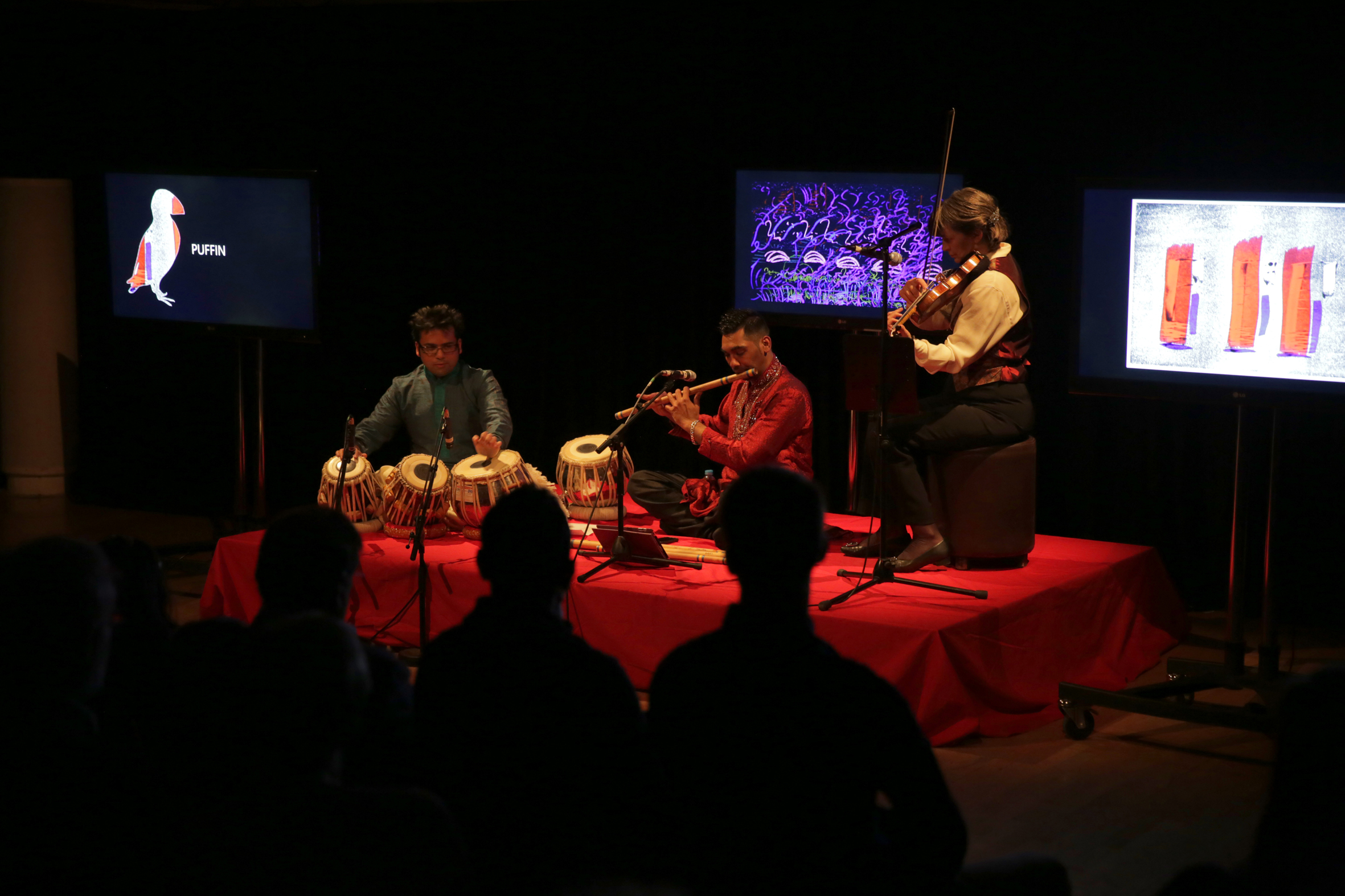 Rishii Waqas and Eleanor on stage as part of The Red Species List.jpg