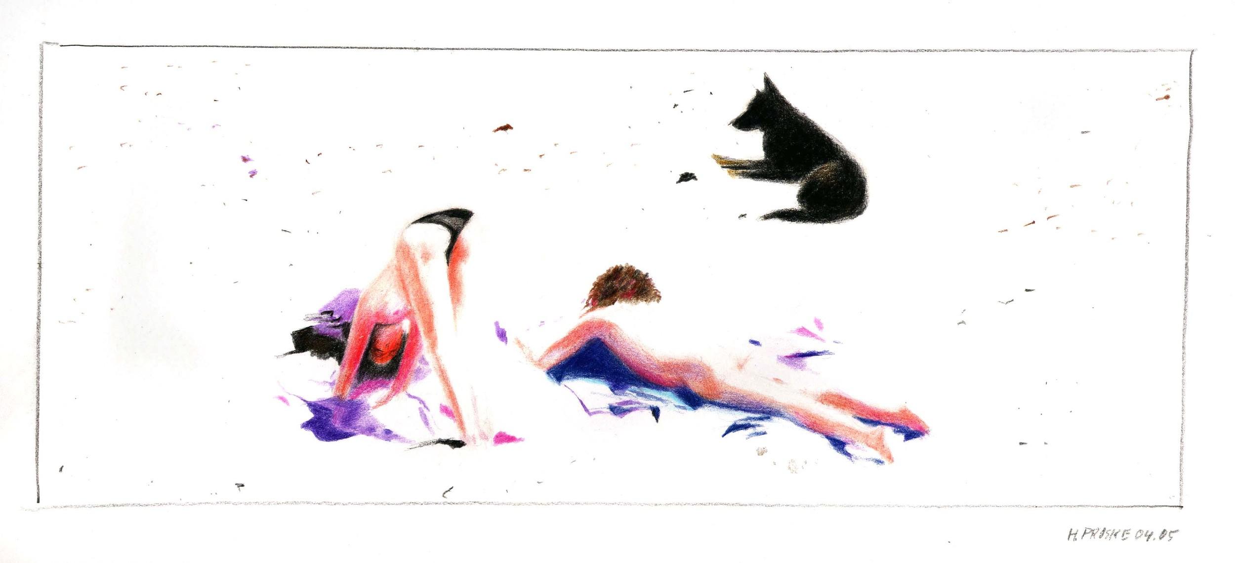 en passant 8,30 x 40, Farbstift:Papier, 2004 .jpg