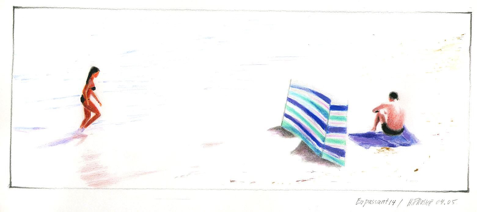 en passant 14,30 x 40. Farbstift:Papier, 2004.jpg