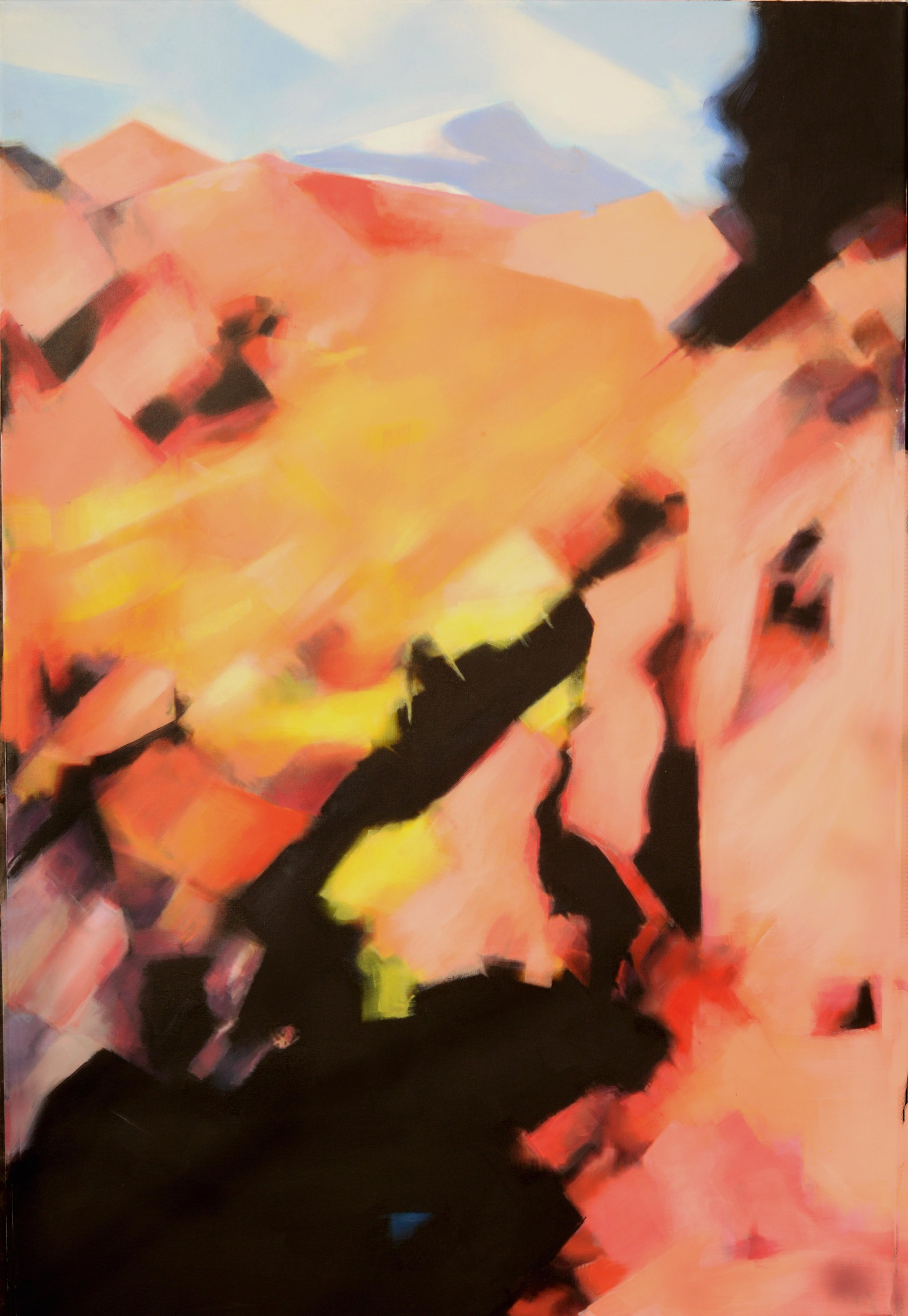pink rock   95 x 140 cm  Acryl auf Leinwand  2017