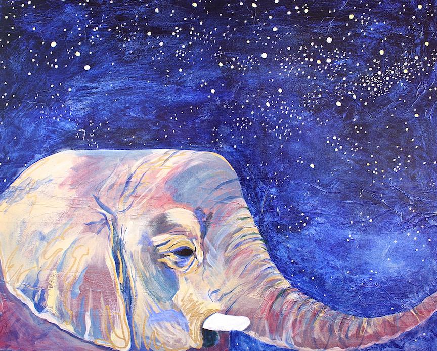 Elephant Starry Night