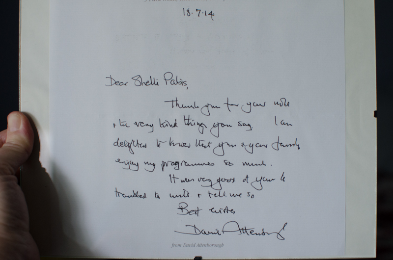 We love David Attenborough so much we wrote him a letter—and he wrote back1 Photo by Shelli Bond Pabis