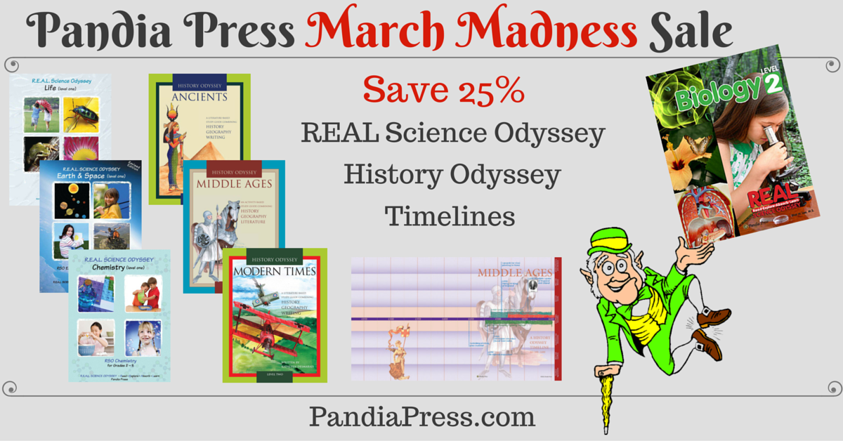 SPONSORED: Pandia Press's March Madness sale is your chance to score 25% off top-notch secular homeschool science and history curricula.