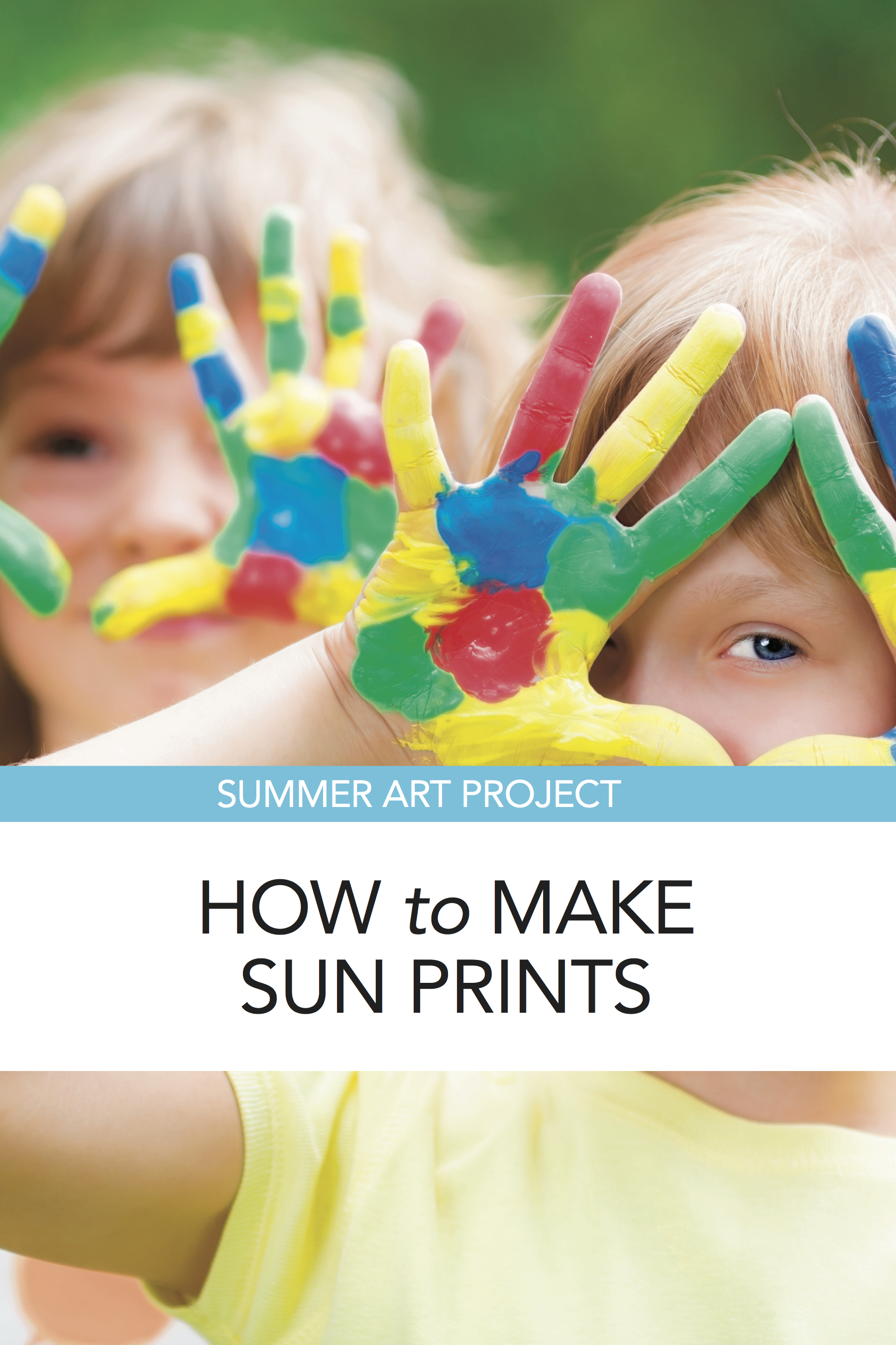 How to make sun prints, a great outdoor art project for homeschoolers
