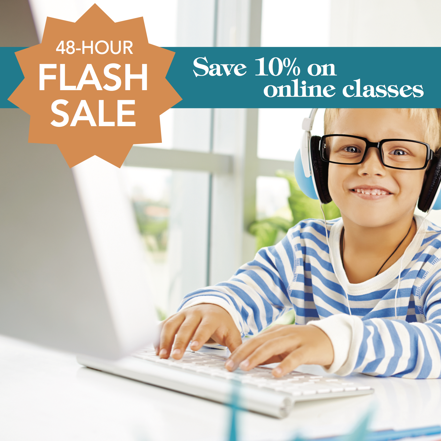 It's a Flash Sale! Save 10% on HSL homeschool classes for two days!