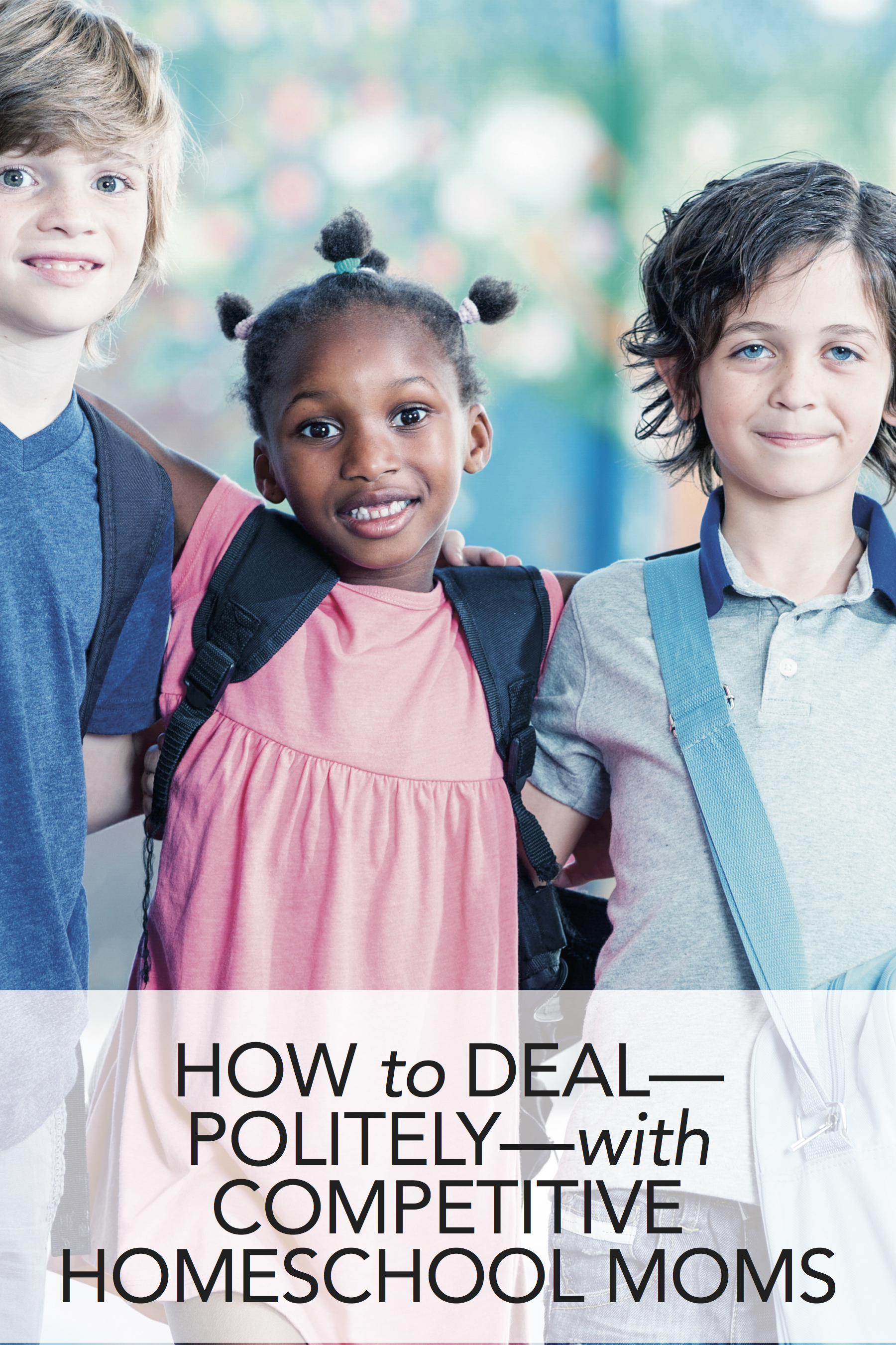 Great tips for dealing (politely) with homeschool moms who get competitive about how their kids are doing. #homeschool