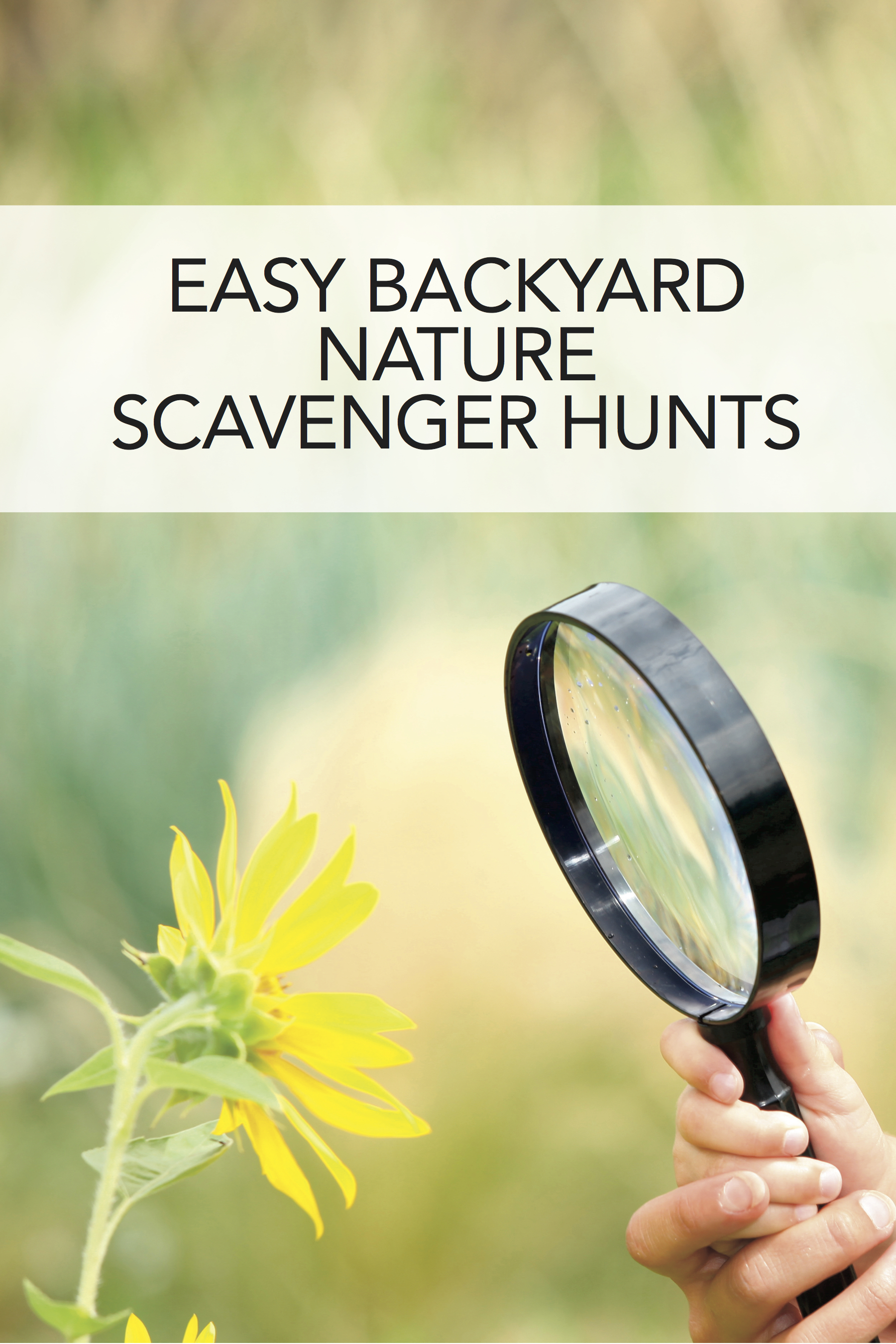 Love this idea for spring homeschooling: Nature scavenger hunts! #homeschool
