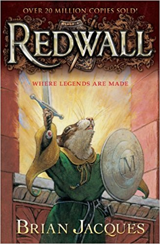 It's been a challenge to find books that my 10-year-old son likes to read or listen to, but we have hit gold with the first book of a very long series:  Redwall  by Brian Jacques. It has everything that my son likes: nature (the characters are all animals), adventure, and rebellion (he is a Star Wars fan, after all).