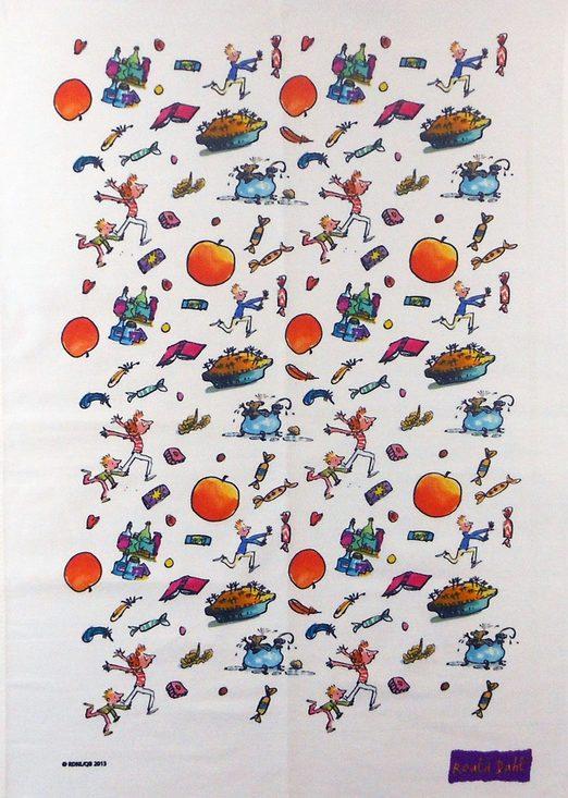 Roald Dahl tea towel