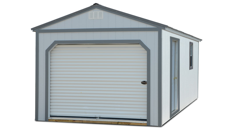 Painted Garage Shed