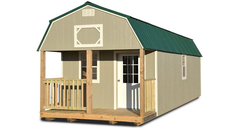 Painted Lofted Barn Cabin