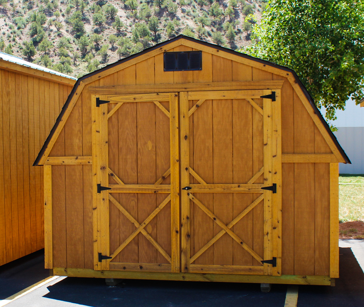 Our barns come with shingles or your can upgrade for free to our metal roofing!