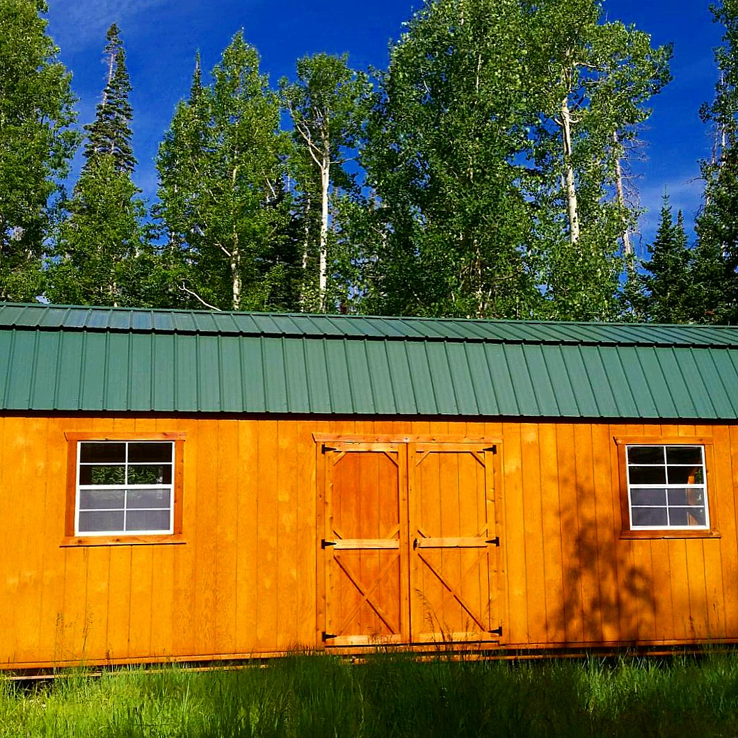 Lofted barns are available in a variety of roof and siding colors. Free Delivery available within first 50 miles in Colorado, Utah, Wyoming, Nevada, Nebraska, and Arizona.