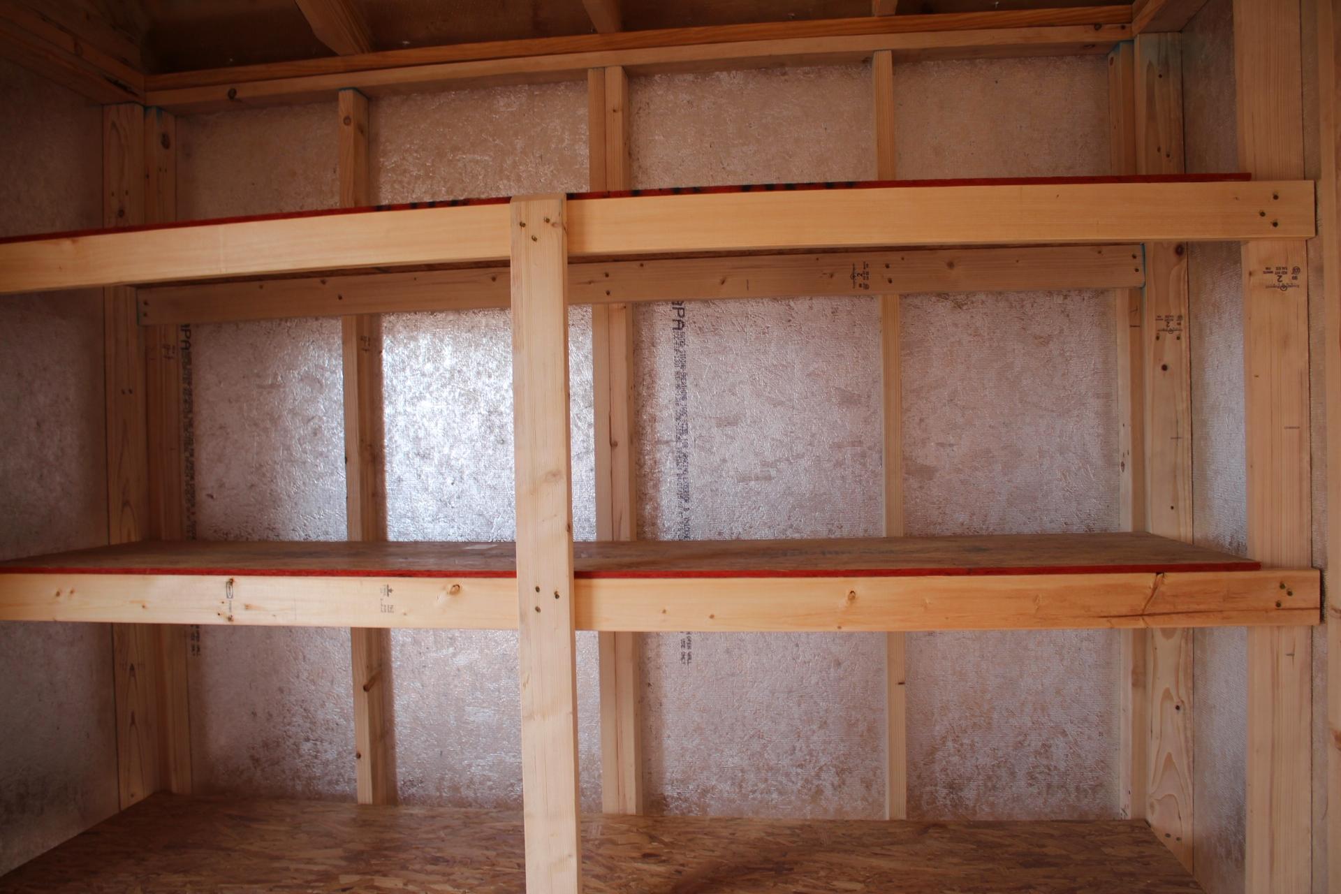 Shelves and Silvertech Walls