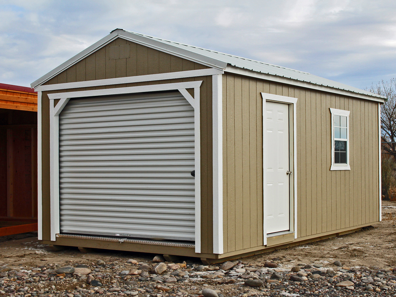 Portable painted garage