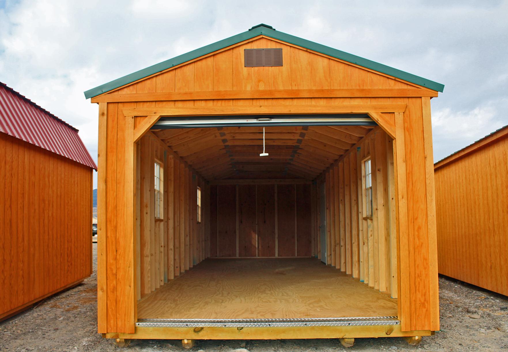 Garage with roll up door