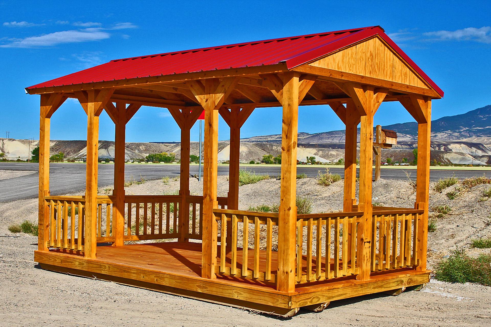 Red Metal Roof Cabana