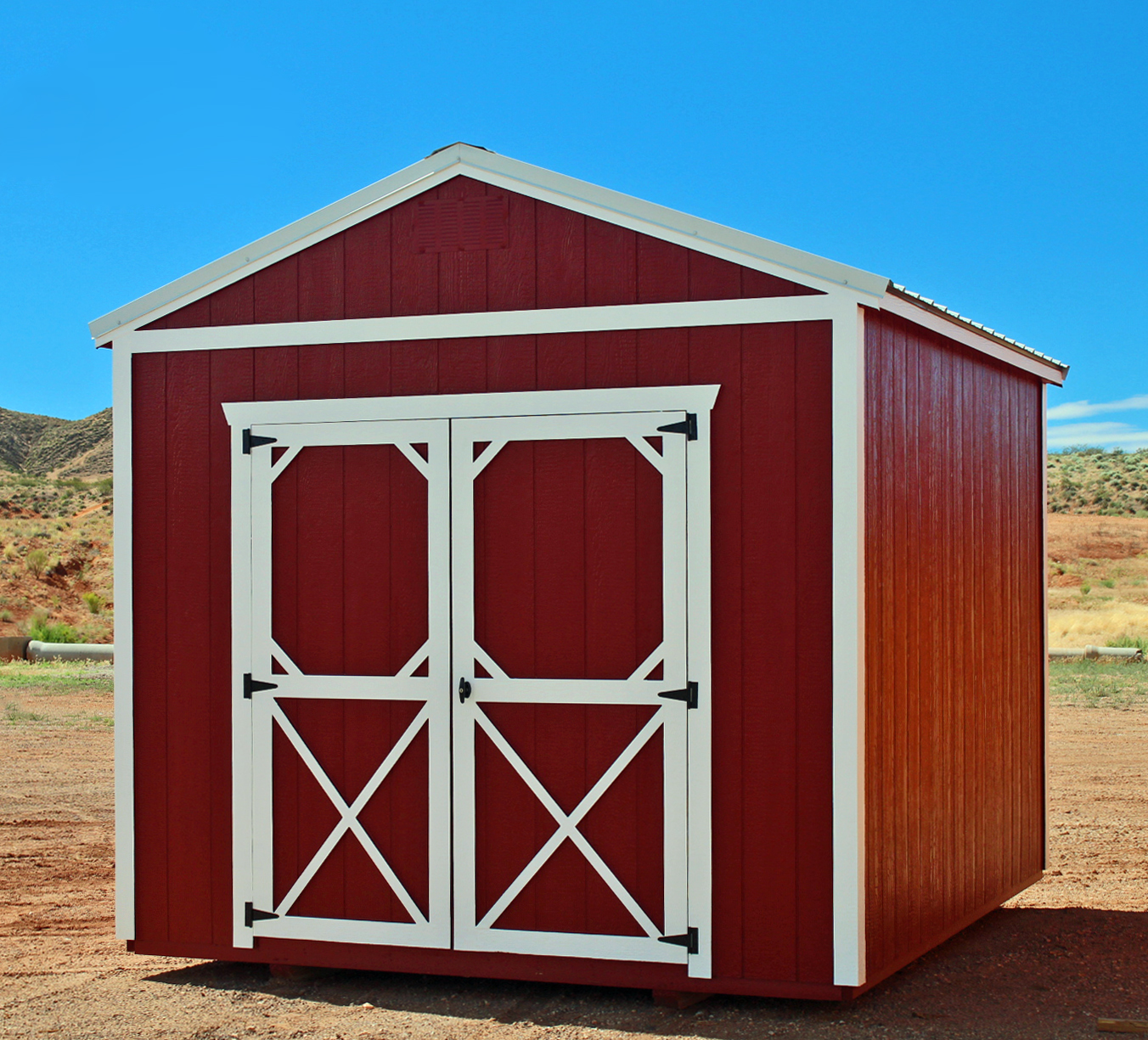 Rustic Red Utility Shed