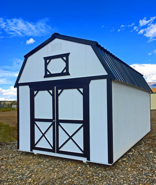 Painted Lofted Barn - Cumberland Buildings and Sheds