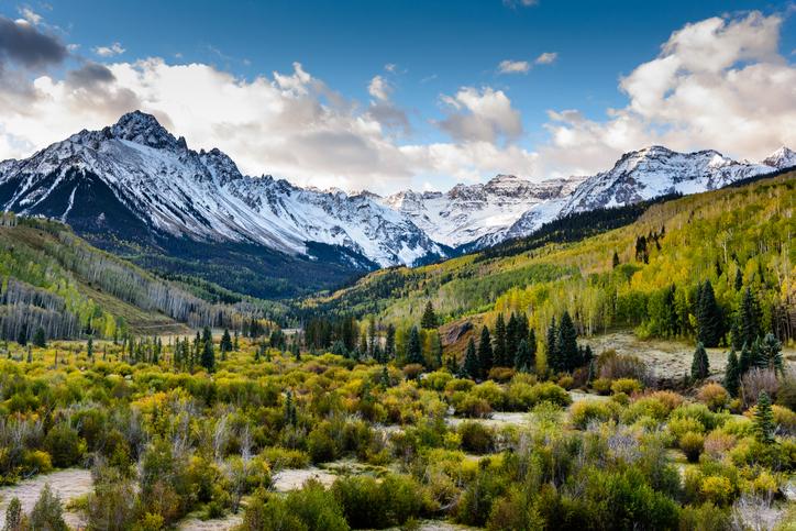 Snow covered Colorado mountains