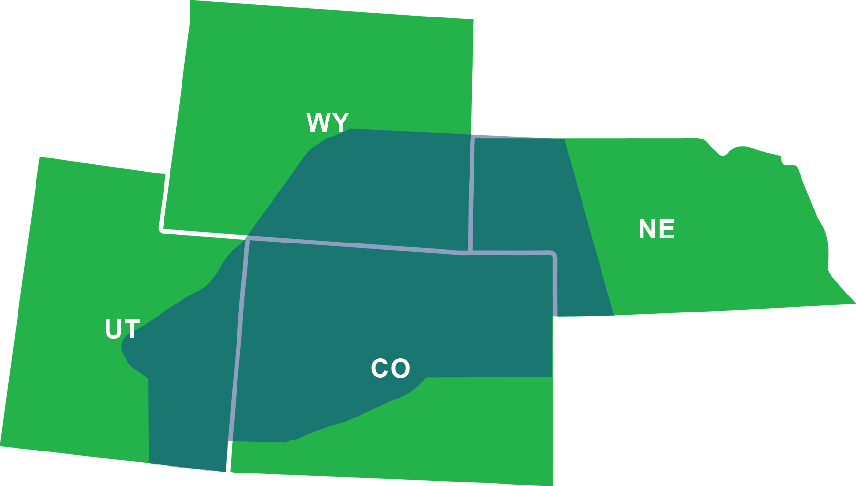 Cumberland Buildings by area - CO, NE, UT (East), WY - Abbreviated.png